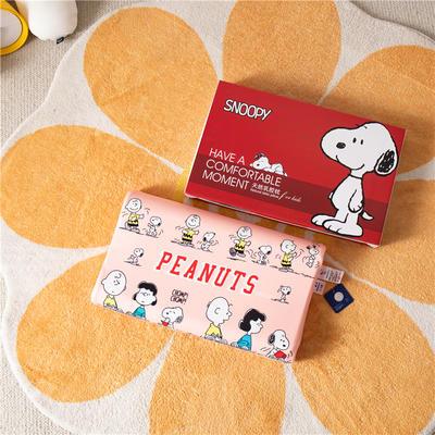 2021新款-史努比儿童卡通乳胶胶枕 30*50+7-9 /个 欢乐家族红
