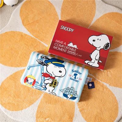 2021新款-史努比儿童卡通乳胶胶枕 30*50+7-9 /个 蓝色海军