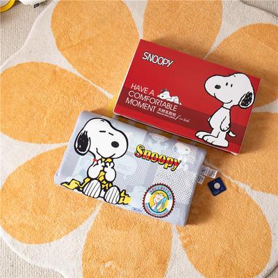 2021新款-史努比儿童卡通乳胶胶枕 30*50+7-9 /个 休亲一刻