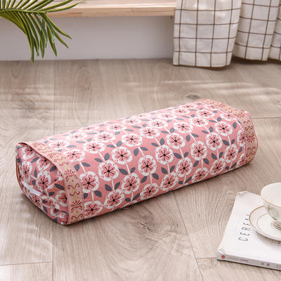 2021新款-全棉老粗布全荞麦壳枕头可调节枕 雏菊粉调节枕1