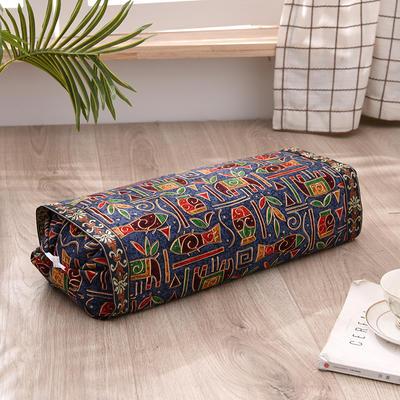 2021新款-全棉老粗布全荞麦壳枕头可调节枕 蓝象鱼调节枕