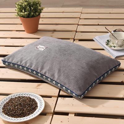 2021新款糖果色麻绒荞麦枕35*55cm 麻绒浅灰