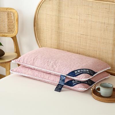 荞麦枕全棉乳胶荞麦壳枕头全荞麦壳助眠枕芯2021年新款 乳胶荞麦枕粉色