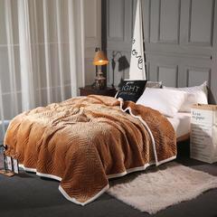 美式法莱绒复合毯 盖毯 休闲毯 150*200cm 布拉卡其