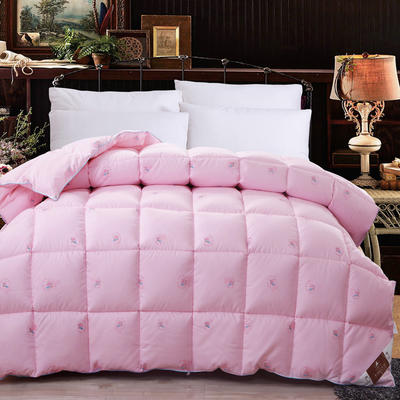 至尊羽丝绒被 150*200cm/4斤 至尊羽丝绒被---粉色