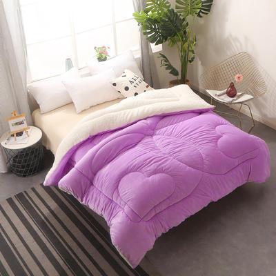 (总)水晶绒冬被 羊羔绒被芯 加厚保暖被子 180x220cm(6斤) 香芋紫