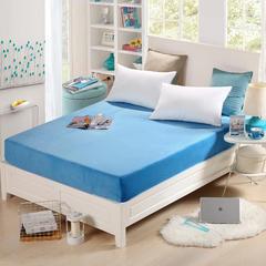 床笠水晶绒床笠保暖床罩单床笠整圈皮筋 120cmx200cm 天蓝