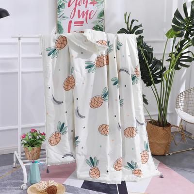 2019全棉夏被春夏新款普通夏被棉被纯棉北欧简约被子被芯 150x200cm 菠萝蜜语