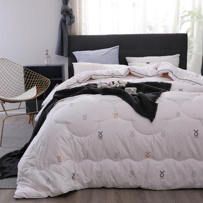 新疆棉花被13372纯棉面料棉花被芯棉絮全棉冬被学生宿舍被子 150x200cm(4斤) 比心