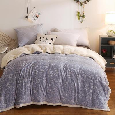 (总)多功能被套毯6D雕花绒可脱卸拆洗被子贝贝绒冬被保暖被芯 150x200cm(单被套) 奥洛菲蓝