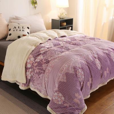 (总)多功能被套毯6D雕花绒可脱卸拆洗被子贝贝绒冬被保暖被芯 150x200cm(单被套) 雅典娜