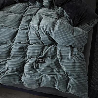 (总)魔法绒拆卸款冬被水晶绒单被套法莱绒被子保暖被芯可拆洗 150x200cm(单被套) 抹茶绿
