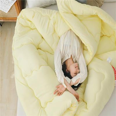 2020(总)加厚保暖被子冬被宿舍单人学生春秋棉被芯空调被褥四季通用 150x200cm 3斤 米黄