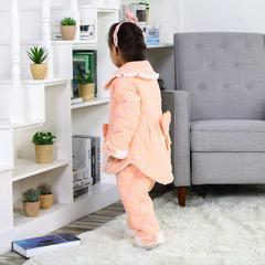 夹棉儿童家居服-女童款 XL 虾粉夹棉