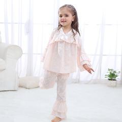 泡花V领套装3色(儿童) L 粉色