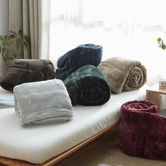 无印法莱绒厚毛毯 140*200 3斤 深绿