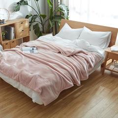 无印法莱绒厚毛毯 140*200 3斤 粉色