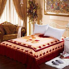 全棉活性大版定位床单 250cmx250cm 一见钟情