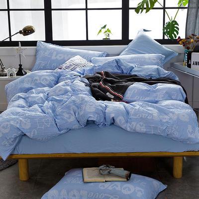 2019新款水洗棉普通款四件套 1.2m(4英尺)床 印象