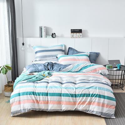 2019新款水洗棉普通款四件套 1.2m(4英尺)床 星律