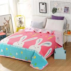 天鹅绒多功能床盖 2米*2.3米 邦尼兔