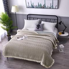 韩式花边水晶绒多功能床盖(绗缝新花型) 2米*2.3米 柔情似水 绿白