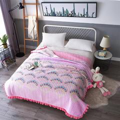 韩式花边水晶绒多功能床盖(绗缝新花型) 2米*2.3米 异羽时光
