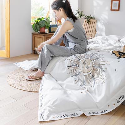 2019新款60长绒棉刺绣四件套 1.5m(5英尺)床 太阳神