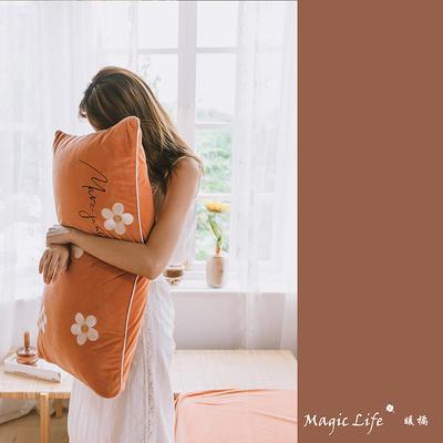 2019新款婴儿绒四件套(水晶绒法莱绒宝宝绒牛奶绒) 1.5m床单款四件套 马克莫杰-暖橘