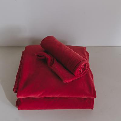 2019新款婴儿绒单品床单 单床单:160*230cm 酱红