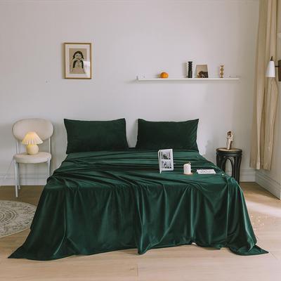 2019新款婴儿绒单品床单 单床单:160*230cm 墨绿