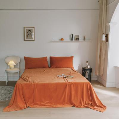 2019新款婴儿绒单品床单 单床单:160*230cm 暖橘