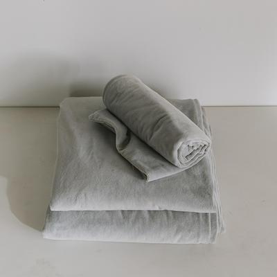 2019新款婴儿绒单品床单 单床单:160*230cm 浅灰