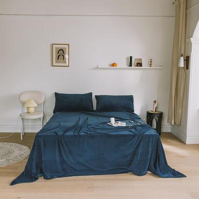 2019新款婴儿绒单品床单 单床单:160*230cm 深蓝