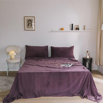 2019新款婴儿绒单品床单 单床单:160*230cm 苏紫