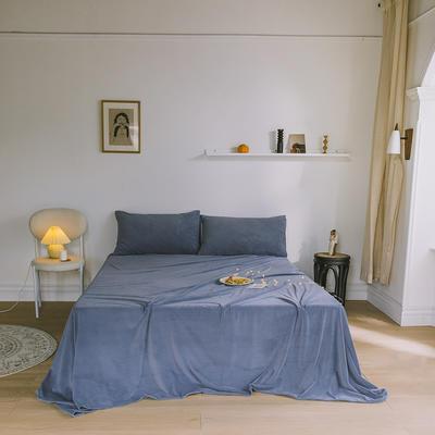 2019新款婴儿绒单品床单 单床单:160*230cm 雾霾蓝