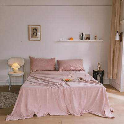 2019新款婴儿绒单品床单 单床单:160*230cm 脏粉