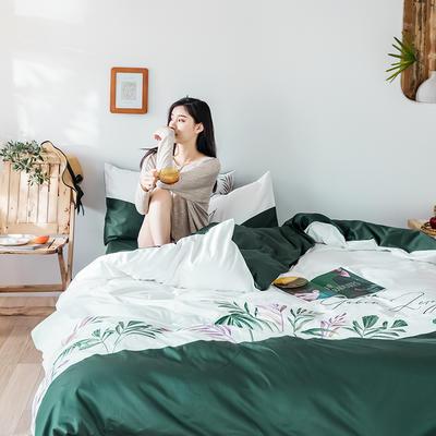 2019新款60長絨棉刺繡四件套 1.8m(6英尺)床 霖