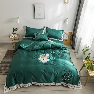 2019新款60長絨棉刺繡四件套 1.8m(6英尺)床 我的草莓