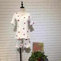沫卡家纺   2018新品草莓短袖-风格1 L 草莓白