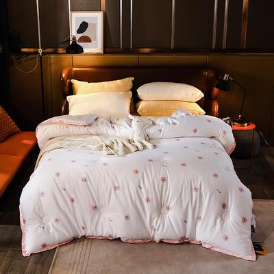 2020新款60支澳棉被冬被被子被芯 200X230cm5.6斤 花盈