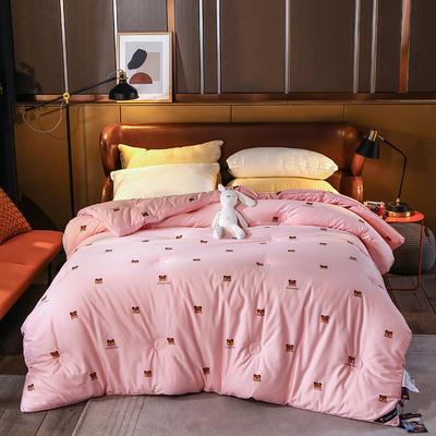 2020新款60支澳棉被冬被被子被芯 200X230cm5.6斤 可爱熊粉色