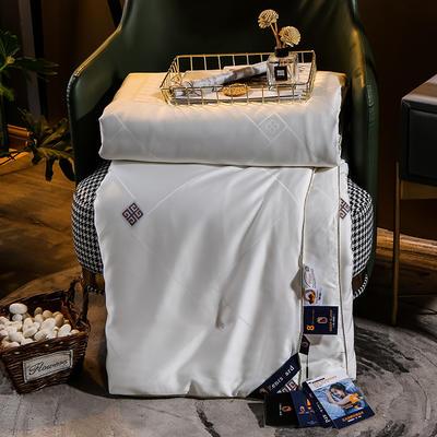 2020新款纪梵熙蚕丝被冬被被子被芯 200X230cm 经典白