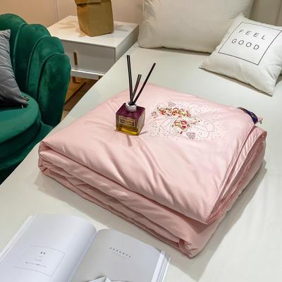 2020新款全棉提花蚕丝被冬被被子被芯 200X230cm 蝴蝶花-粉