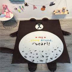 可拆洗加厚爬行垫儿童防摔游戏垫隔凉地垫 含套枕芯(30*50) 布朗熊