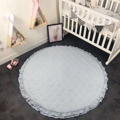 蔓可   ins公主风可拆洗爬行垫防摔糖果色地垫加厚爬爬垫 直径1.5m(+-5cm) 灰色
