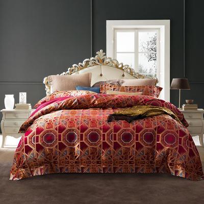 全新臻缎丝提花系列四件套 1.8m(6英尺)床 欧式奢华