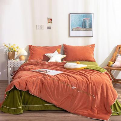 2020秋冬新品  即暖绒懒人被四套件 200X230cm单被 魅力橙