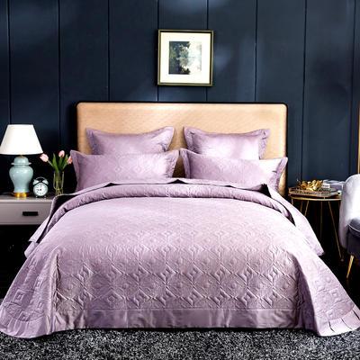 2020秋冬新品   极柔长绒棉抑菌绗缝床盖三件套 1.8m(6英尺)床三件套 水雾紫