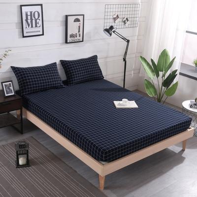 2019新款水洗棉单品格子床笠 适用于15-25cm之内的床垫 90X200+25 暖冬